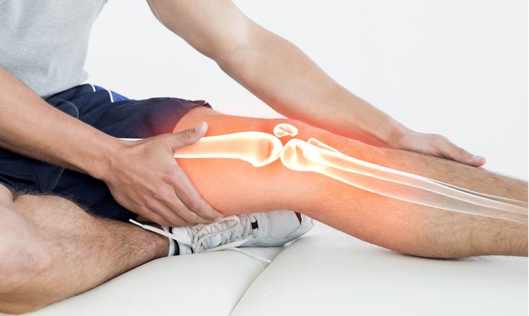 Man with devastating leg injury